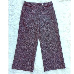 NWOT Express Culotte Cropped B & W Dress Pants 0